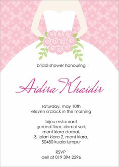 Wording for A Bridal Shower Invitation