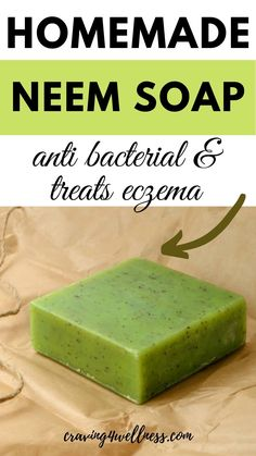 Soap Making Recipes, Homemade Soap Recipes, Home Made Soap Without Lye, Diy Natural Beauty Remedies, Neem Benefits, Home Remedies For Eczema, Hair Remedies, How To Treat Eczema, Antibacterial Soap