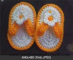 Crochet Baby Booties baby flip flops - free pattern...