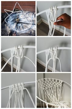 Makrome İpinden Hamak Sandalye Yapılışı