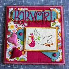 A card to a newborn baby girl