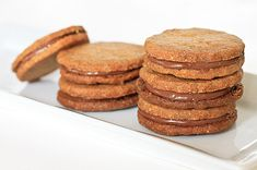 Hazelnut Cookies Made with Whole Wheat Flour and Nutella on http://www.wishfulchef.com