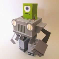 Tektonten Papercraft - Free Papercraft, Paper Models and Paper Toys: Alien Mecha Paper Toy