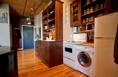 Wood Ceilings, Bedroom Loft, Wall Storage, Exposed Brick, Large Windows, Kitchen And Bath, Beams, Home Appliances, The Unit