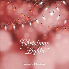 Fondo de luces rojas de navidad en estilo boeh