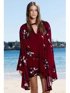 SHARE & Get it FREE | Keyhole Floral Neckline Long Sleeve DressFor Fashion Lovers only:80,000+ Items • New Arrivals Daily Join Zaful: Get YOUR $50 NOW!
