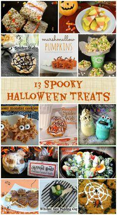 13 Spooky Halloween Treats #halloween #recipes
