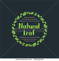 Natural Leaf, Leaf logo template in vector format, easy to customize