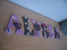 Prénom d'enfant en lettres en bois ALYSSA
