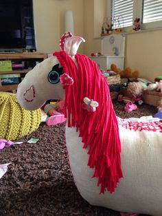 POLLYS HORSE (looks like she is right when she says living room is HER room ;) )