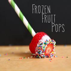 Fruit for dessert, but fun.