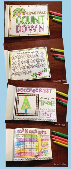 Christmas Countdown Mini Book - 25 page activities - memory book
