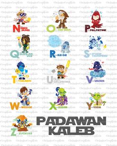 Star Wars Alphabet Baby Nursery Art- Set of 2 Prints. For once the baby has a name...