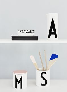 Vintage ABC Collection by Arne Jacobsen for Design Letters Types Of Lettering, Lettering Design, Design Letters, Arne Jacobsen, Diner Table, Alphabet, Objects, Diy Crafts, Graphic Design