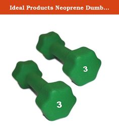 Ideal Products Neoprene Dumbbells Pair - 3 lb. These are Ideal Products' Neoprene Dumbbells. They are simple, effective neoprene coated iron hand weights that provide a soft grip and reduce slip. Perfect for jogging, aerobics, power walking, general exercise and physical therapy, these dumbbells are available at each pound from 1 to 10 lb, and afterward, up to 30 lbs in increasing increments.