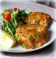 Salmon and Broccoli Fish Cakesfrom The English Kitchen