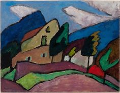 Gabriele Münter (German, 1877 - 1962) Wind and Coulds (Wind und Wolken), 1910 Oil on paper Sprengel Museum Hannover, Germany