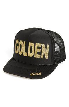 0c753312079 nbrhd Golden Trucker Hat Camo Hats