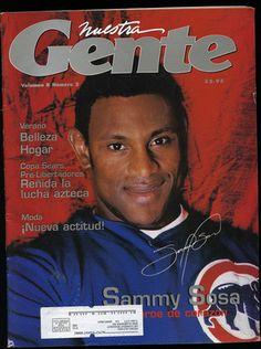 Sammy Sosa Magazine Cover - Nuestra Gente - FOR SALE HERE -->  http://www.ebay.com/itm/121688682120?ssPageName=STRK:MESELX:IT&_trksid=p3984.m1555.l2649