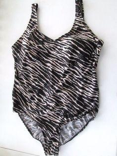 37edec9f1b5b4 Shore Shapes ~BLING~ Sequin Animal Print 1 Piece Black Cream Plus Size 26W  #ShoreShapes #OnePiece. Glamchick_01 · Plus Size Bathing Suits Swimwear