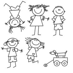Free Image on Pixabay Kids Drawing Lines Girl Boy Uncategorized Drawing for kids Art Drawings For Kids, Doodle Drawings, Drawing For Kids, Easy Drawings, Art For Kids, Drawing Ideas, Drawing Lessons, Art Lessons, Stick Figure Drawing