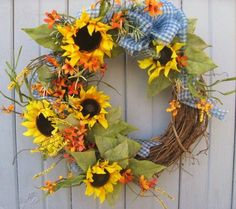 summer sunflower wreath from AWorkofHeartSA on etsy $75