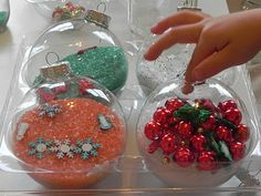Play At Home Mom LLC: Christmas Sensory and I Spy Ornaments