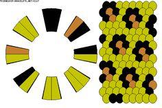 16str Kumihimo Pattern K227 --by-- princess_5775 -- keywords: leopard, cheetah, animal, print, safari, animal print, jungle, cats --- on http://friendship-bracelets.net/kumihimo.php?id=227