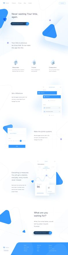 Click to see a bigger version! | Project Management Landing Page | Inspire Design | #ui #ux #userexperience #website #webdesign #design #minimal #minimalism #art