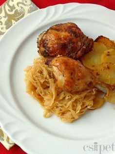 Hungarian Recipes, Hungarian Food, Meat Recipes, Poultry, Food And Drink, Turkey, Tasty, Dishes, Cooking