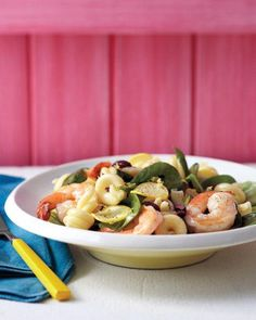 Summer Pasta Salad with Shrimp Recipe