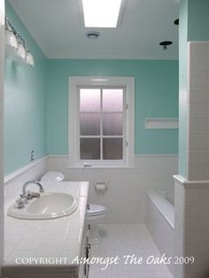 paint for bathroom? Love it with the white tile