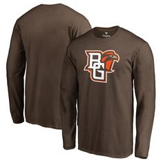 Bowling Green St. Falcons Fanatics Branded Primary Logo Long Sleeve T-Shirt - Brown