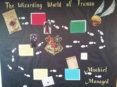 Harry Potter Introduction to Campus Bulletin Board #RA #bulletinboard #TSU