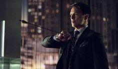 Arrow's John Barrowman wants to write Meryln comic / John Barrowman as Malcolm Merlyn in Arrow S01E22: 'Darkness on The Edge of Town'