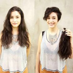 Do you like your wavy hair and do not change it for anything? But it's not always easy to put your curls in value … Need some hairstyle ideas to magnify your wavy hair? Pictures Of Short Haircuts, Short Hairstyles For Women, Pretty Hairstyles, Hairstyles Pictures, Long Hair Cuts, Wavy Hair, Before And After Haircut, Super Short Hair, Short Thick Hair