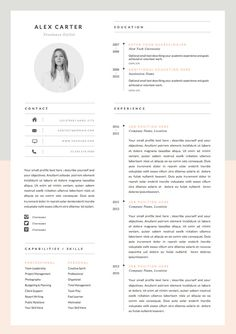 Modern Resume Template & Cover Letter Icon Set por OddBitsStudio If you like this design. Check others on my CV template board :) Thanks for sharing! Resume Layout, Resume Tips, Resume Cv, Resume Ideas, Cv Ideas, Free Resume, Resume Format, Resume Fonts, Resume Review