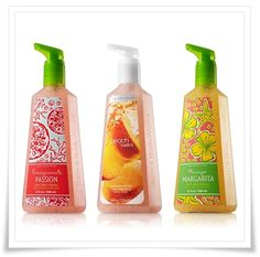 Bath & Body Works hand soaps -- Wonderful scents and relatively cheap too!