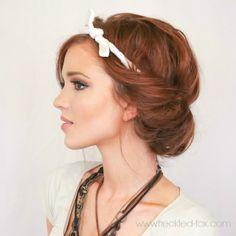 The Freckled Fox : Festival Hair Week: Easy Headscarf Roll