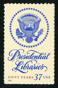 To commemorate the 50th anniversary of the Presidential Libraries Act of 1955, the Postal Service honored presidential libraries and their place in American history with this stamp issuance.