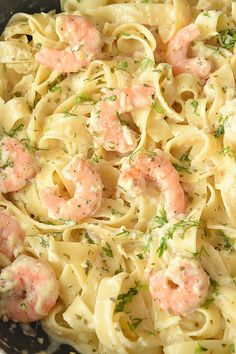 Shrimp Alfredo Olive Garden, Shrimp Fettuccine Alfredo, Fettuccine Recipes, Shrimp Recipes Easy, Seafood Recipes, Cooking Recipes, Chicken Recipes, Sauce Alfredo, Shrimp Alfredo Recipe With Jar Sauce