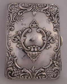 Victorian Antique Sterling Silver Travelling Card Case Purse Chester 1898 (S60) in Antiques, Silver, Solid Silver | eBay