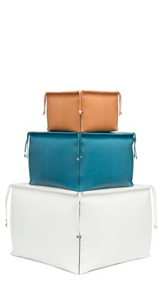 Smooth calf leather cushions reinterpreted by Jonathan Anderson. NOW AVAILABLE.