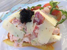 """Un """"sándwich de langosta con caviar y queso manchego!"""