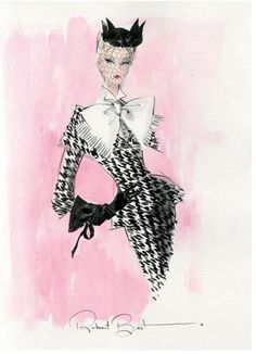 Robert Best sketch for Walking Suit Barbie
