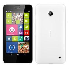 """Smartphone Lumia 630 Dual Chip Branco Tela 4.5"""", 3G+WiFi, Windows Phone 8.1, Câmera 5MP, Memória Interna 8GB, TV Digital - Nokia"""