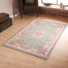 Traditional rug with oriental inspired Aubusson design. The rug fuses rich traditional colours of this Chinese classic design which is 100% Wool hand tufted and hand carved producing a superb finish. From £40.00