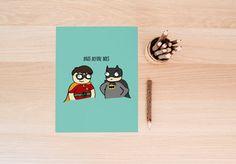 Hoes Before Bros  Superhero A4 Print by HouseOfWonderland on Etsy