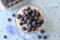 Blueberry Muffin Overnight Oats with chai seeds | Eat Yourself Skinny