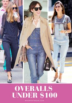 So you've mastered the turtleneck-under-overalls look (go you!), but with these warmer temperatures, it's time to transition your dungarees. Because of this, we've rounded up outfit via Celebrity Outfits, Celebrity Style, Celebrity Clothing, Warm Weather Outfits, Winter Outfits, Stunning Women, Fashion Outfits, Womens Fashion, Latest Fashion